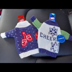 Aldi set of Ugly Sweater Wine Bottle Cover